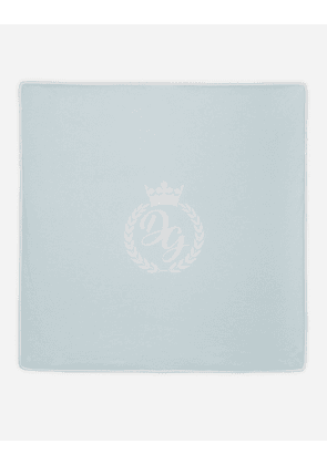 Dolce & Gabbana Collection - JERSEY COVER WITH DG PRINT LIGHT BLUE
