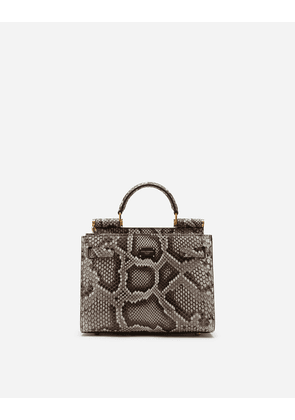 Dolce & Gabbana Collection - SICILY 62 SMALL TOTE BAG IN PYTHON SKIN WHITE