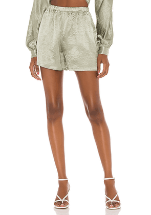 Lovers + Friends Lounge High Waisted Shorts in Sage. Size M,S,XL,XS,XXS.