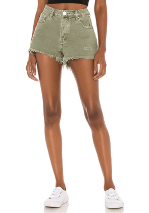 One Teaspoon Bonita High Waist Denim Short in Sage. Size 23,24,25,26,27,28,29,30.