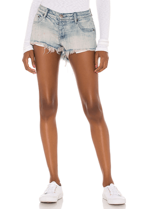 One Teaspoon Bonitas Low Waist Denim Short in Blue. Size 23,24,25,26,27,28,29.