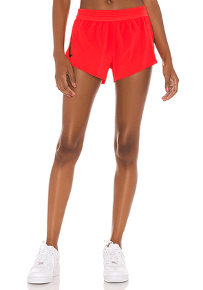 Nike Aeroswift Short in Red. Size M,S,XL,XS.