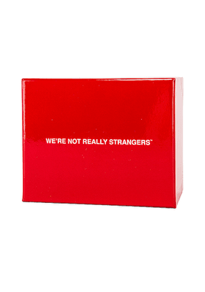 We're Not Really Strangers We're Not Really Strangers Card Game in Red.