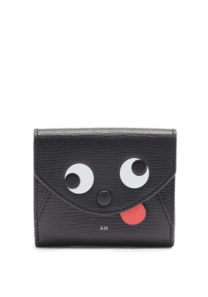 Anya Hindmarch - Zany Trifold Grained-leather Card And Coin Purse - Womens - Dark Blue