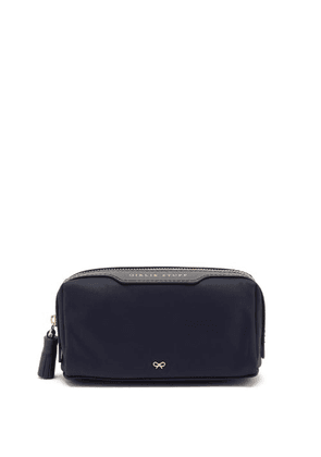 Anya Hindmarch - Girlie Stuff Leather-trimmed Nylon Make-up Bag - Womens - Navy