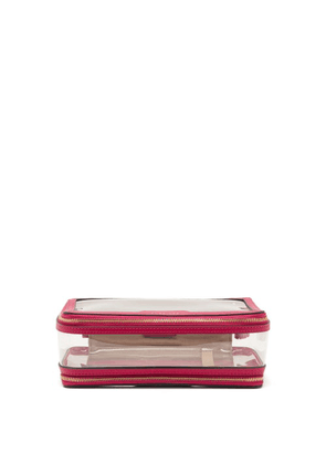 Anya Hindmarch - In-flight Leather And Tpu Wash Bag - Womens - Pink