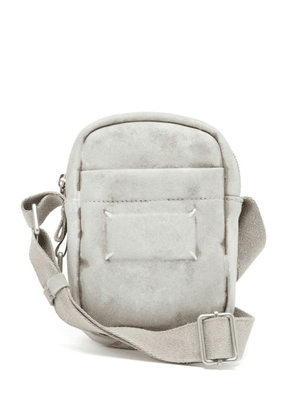 Maison Margiela - Bianchetto Painted Faux-suede Camera Bag - Mens - White