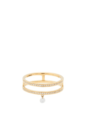 Persee - Zeus Diamond & 18kt Gold Double Ring - Womens - Yellow Gold