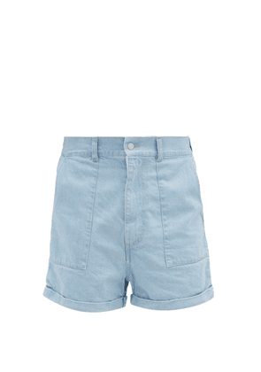 E. Tautz - Denim Workwear Shorts - Mens - Light Blue