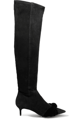 Alexandre Birman Michele Knotted Suede Over-the-knee Boots Woman Black Size 35.5