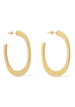 Ben-amun 24-karat Gold-plated Hoop Earrings Woman Gold Size --