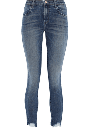 J Brand Cropped Faded High-rise Skinny Jeans Woman Mid denim Size 28