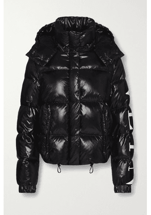 Valentino - Hooded Quilted Glossed-shell Down Jacket - Black