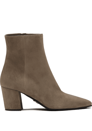 Prada pointed toe ankle boots - Neutrals