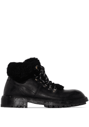 Dolce & Gabbana fur lined hiking boots - Black