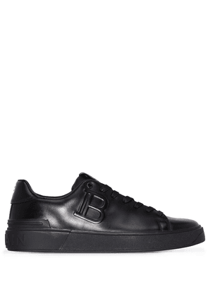 Balmain B-Court embossed low-top sneakers - Black