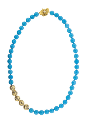 BUDDHA MAMA 20kt yellow gold and turquoise necklace - Blue