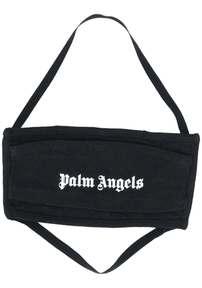 Palm Angels logo print face mask - Black