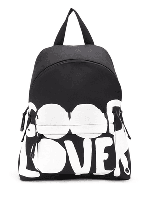 Valentino Lovers Language printed backpack - Black