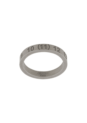 Maison Margiela engraved numbers ring - SILVER