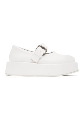 Marsell SSENSE Exclusive White Platform Buckle Shoes