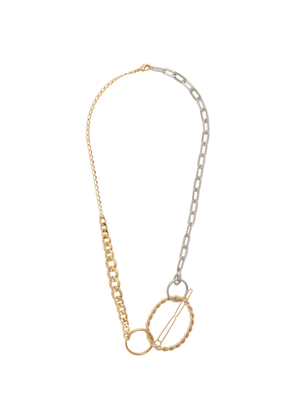 Bless Gold and Silver Materialmix Hairpin Necklace