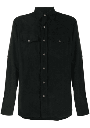Tom Ford buttoned cotton shirt - Black