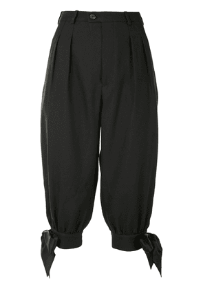 Maison Margiela tie detail cropped tailored trousers - Black