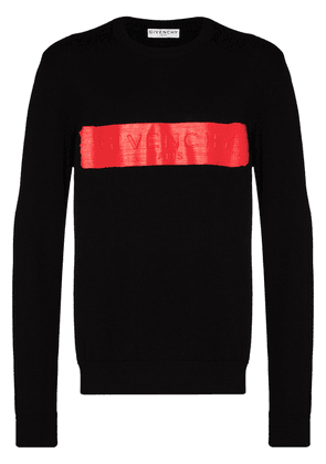 Givenchy logo-band crew-neck jumper - Black