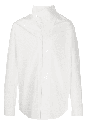 Balmain asymmetric collar shirt - White