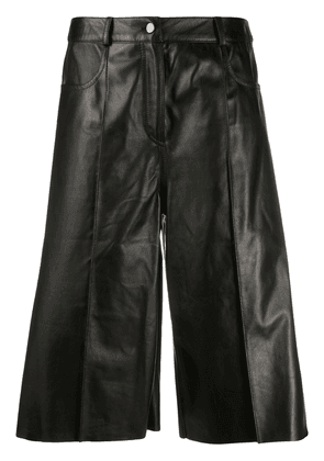 Drome knee-length leather shorts - Black