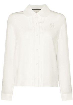 Gucci embroidered crêpe blouse - White