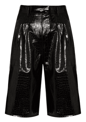 Maison Margiela crocodile effect shorts - Black