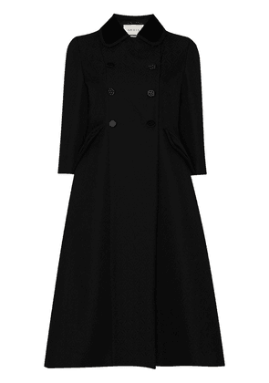 Gucci double-breasted A-line coat - Black