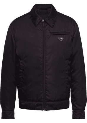 Prada zip-up padded jacket - Black