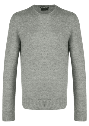 Tom Ford crew neck knitted jumper - Grey