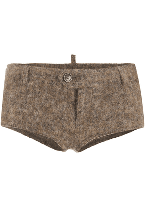 Dsquared2 knitted short fitted shorts - Neutrals