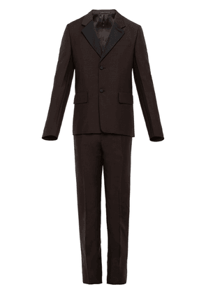 Prada single-breasted wool and mohair suit - Brown