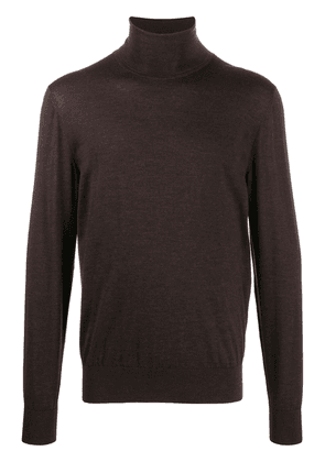 Dolce & Gabbana knitted roll-neck jumper - Brown