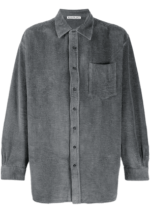 Acne Studios oversized corduroy buttoned shirt - Grey