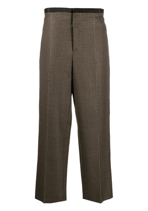 Maison Margiela wool check straight trousers - Brown