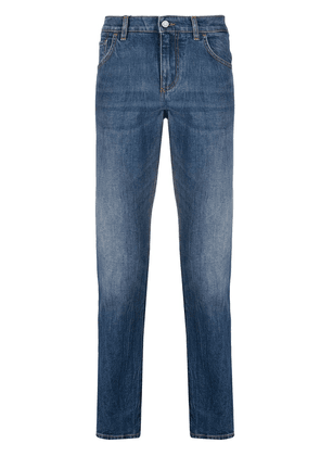 Dolce & Gabbana side-stripe slim-fit jeans - Blue