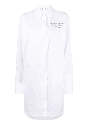 Off-White logo-embroidered shirt dress