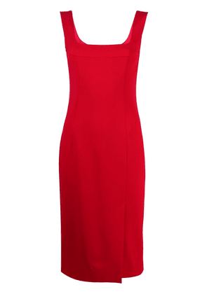 Dolce & Gabbana square neck fitted dress - Red