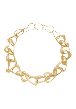 1064 Studio Gold Curvilinear Archives 26N Necklace