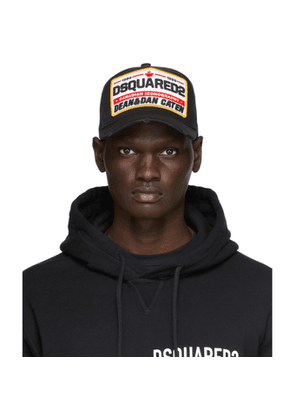 Dsquared2 Black Canadian Iconography Baseball Cap