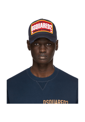 Dsquared2 Navy Embroidered Logo Baseball Cap
