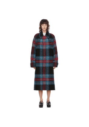 Charles Jeffrey Loverboy Navy Tartan Doctors Mac Coat