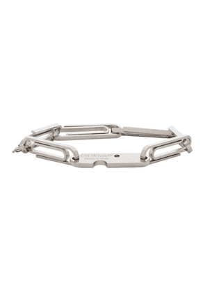 Off-White Silver Multi Paperclip Bracelet