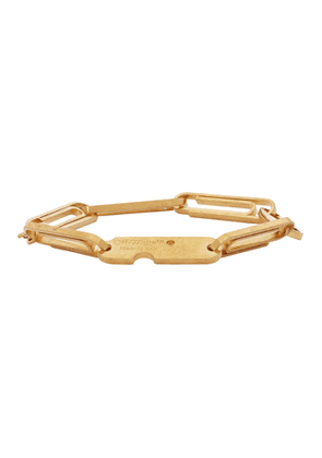 Off-White Gold Multi Paperclip Bracelet